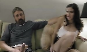 Teen daughter Emily Willis gets spanked coupled with punished by her dad Steve Holmes