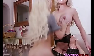 Cougar And Stepdaughter Ride Their New Tenant