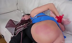 Stepmother coupled with partner'_ duddy'_s daughter domination feet bondage