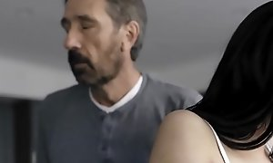 Sexy 18 yo lady spanked and fucked by dad!