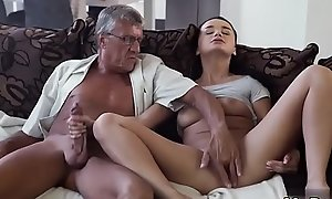 Skinny granny anal old and pop procreate father patron'_ crony'_s daughter