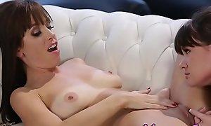 Horny stepdaughter eats