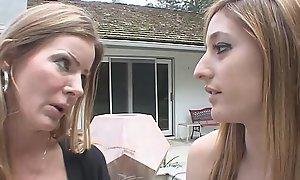 Blonde Mom upon Big Tits Fucks Teen Daughter