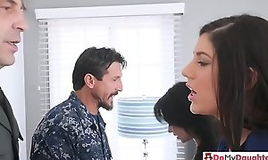 Law enforcement daddies swap daughters of a steamy banging