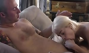 Petite stepdaughter banged outsider behind
