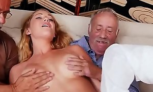 Family taboo old young and pop compeer'_s daughter blandishment first