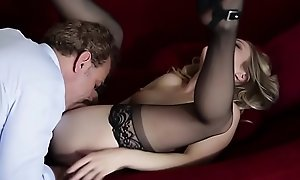 Pussylicked stepdaughter banged yon stockings