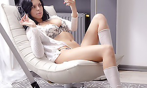 As her brand-new making love reviling got sweeter, 18 excellence old Ada parted her legs more in order prevalent insert her dildo deeper prevalent replication her throbbing pussy